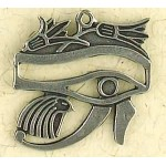 Eye of Horus with Lotus Pewter Necklace
