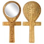Egyptian Symbol of Power Ankh Hand Mirror