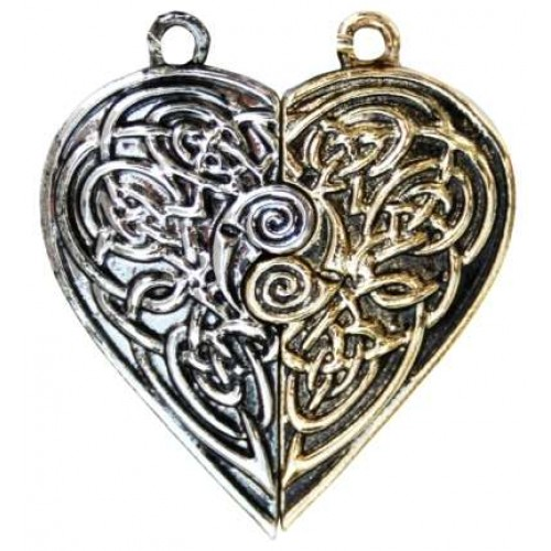Tristan and Iseult Heart Token Necklace