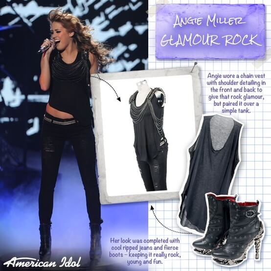 American Idol Season 12 contestant Angie Miller rocking Raven boots from Gothicplus.com