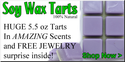 Shop for natural soy wax tarts for your aroma lamp from jewelry in candles