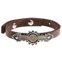 Portative Spectrostat Steampunk Leather Strap Bracelet