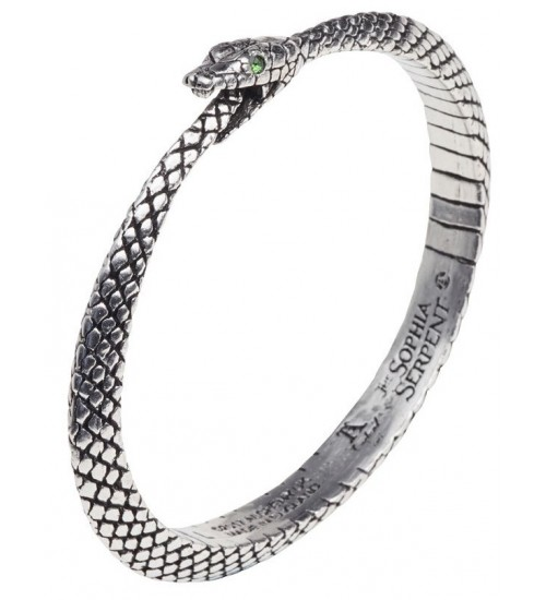 Sophia Serpent Ouroborus Pewter Bangle Bracelet at LABEShops, Home Decor, Fashion and Jewelry