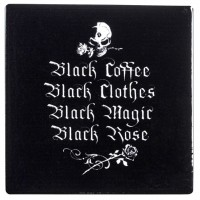 Gothic Coffee Lovers Ceramic Coaster