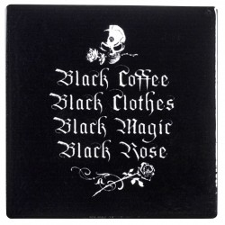 Gothic Coffee Lovers Ceramic Coaster LABEShops Home Decor, Fashion and Jewelry