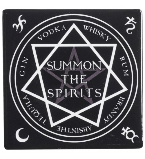 Summon the Spirits Ceramic Coaster at LABEShops, Home Decor, Fashion and Jewelry