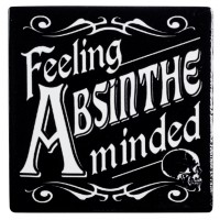 Feeling Absinthe Minded Ceramic Coaster
