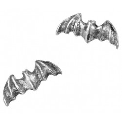 Bat Stud Pewter Earrings LABEShops Home Decor, Fashion and Jewelry