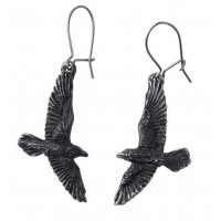 Black Raven Earring Pair