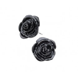 Black Rose Stud Earrings LABEShops Home Decor, Fashion and Jewelry
