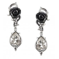 Bacchanal Black Rose Drop Earrings LABEShops Home Decor, Fashion and Jewelry