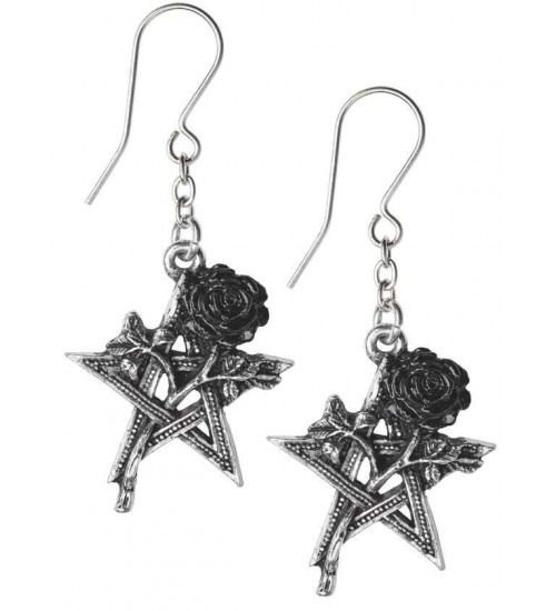 Ruah Vered Pentacle Rose Gothic Earrings at LABEShops, Home Decor, Fashion and Jewelry
