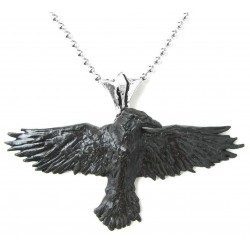 Black Raven Pewter Necklace LABEShops Home Decor, Fashion and Jewelry