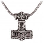 Bindrune Thors Hammer Pewter Necklace at LABEShops, Home Decor, Fashion and Jewelry Direct to You