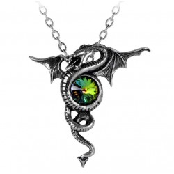 Anguis Aeternus Dragon Pewter Necklace LABEShops Home Decor, Fashion and Jewelry