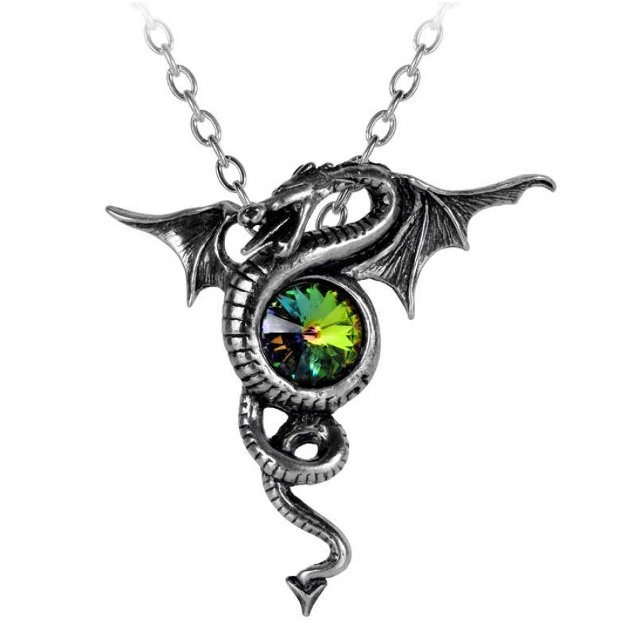 Anguis Aeternus Dragon Pewter Gothic Jewelry Necklace