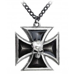 Black Knights Cross Pewter Necklace LABEShops Home Decor, Fashion and Jewelry