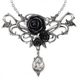 Bacchanal Black Rose Victorian Necklace LABEShops Home Decor, Fashion and Jewelry