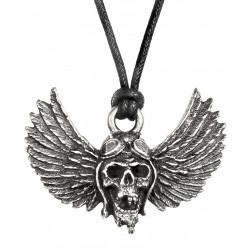 Airbourne Wings Pewter Band Necklace LABEShops Home Decor, Fashion and Jewelry