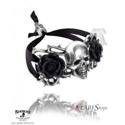 Skull and Briar Rose Pewter Dreadpunk Bracelet LABEShops Home Decor, Fashion and Jewelry