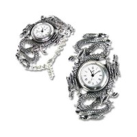 Imperial Dragon Pewter Gothic Wrist Watch