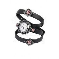 Heartfelt Leather and Pewter Gothic Wrist Wrap Watch LABEShops Home Decor, Fashion and Jewelry