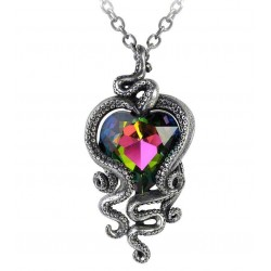 Heart of Cthulhu Gothic Swarovski and Pewter Necklace LABEShops Home Decor, Fashion and Jewelry