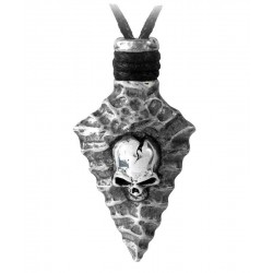 Capitaneus Pewter Skull Arrowhead Necklace LABEShops Home Decor, Fashion and Jewelry