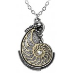 Fibonacci Golden Spiral Pewter Necklace at LABEShops, Home Decor, Fashion and Jewelry