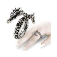 Vis Viva Pewter Dragon Ring