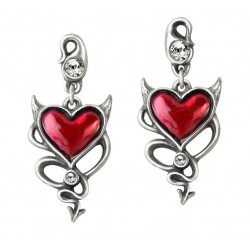 Devil Heart Earring Pair LABEShops Home Decor, Fashion and Jewelry