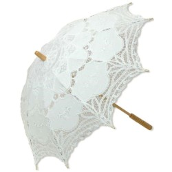 White Battenburg Lace Parasol LABEShops Home Decor, Fashion and Jewelry