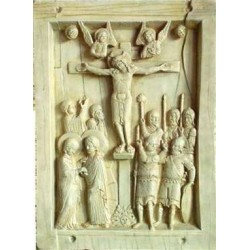 Byzantine Crucifixion Tablet Stone Relief Plaque LABEShops Home Decor, Fashion and Jewelry