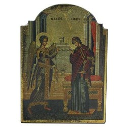 Annunciation Byzantine Style Devotional Christian Icon LABEShops Home Decor, Fashion and Jewelry