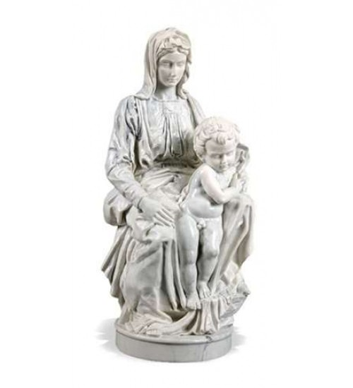 Madonna of Bruges by Michelangelo Museum Replica Statue