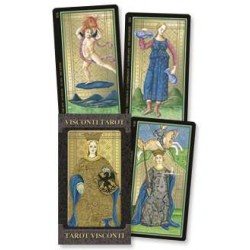 Golden Tarot of Visconti Grand Trumps Italian Tarot Cards LABEShops Home Decor, Fashion and Jewelry