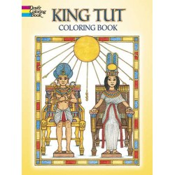 King Tut Egyptian Design Coloring Book LABEShops Home Decor, Fashion and Jewelry