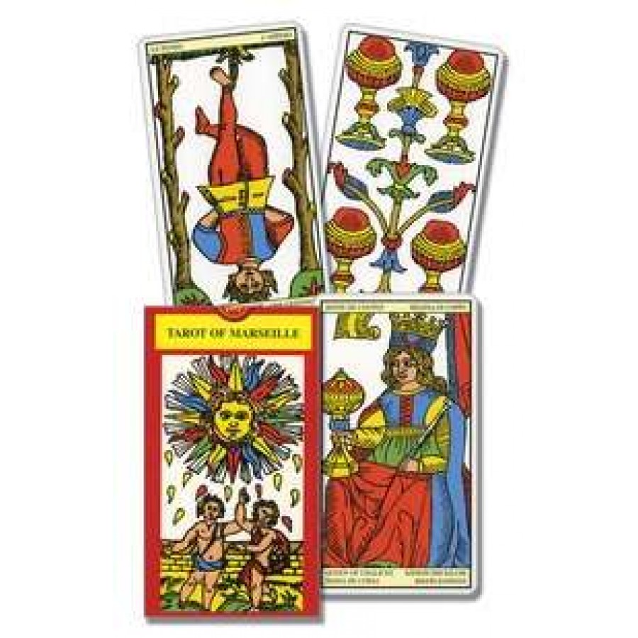 Marseille french tarot deck restored historial tarot cards for Decorative tarot cards