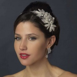 Silver Leaf and Pearl Bridal Headband LABEShops Home Decor, Fashion and Jewelry