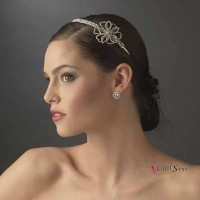 Crystal Floral Rhinestone Bridal Headpiece