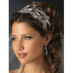 Deco Style Rhinestone Wide Silver Headband LABEShops Home Decor, Fashion and Jewelry