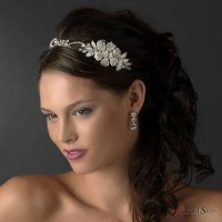 Charming Side Floral Rhinestone Bridal Headpiece