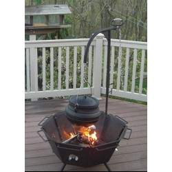 Backyard Fire Pit Cooker with Kettle Hook LABEShops Home Decor, Fashion and Jewelry