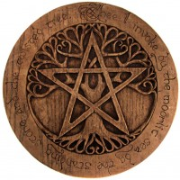 Tree Pentacle Large Plaque