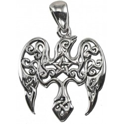 Raven Pentacle Sterling Silver Small Morrigan Pendant LABEShops Home Decor, Fashion and Jewelry