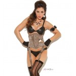 Tan Pinstripe Waist Cincher with Pocket Watch at LABEShops, Home Decor, Fashion and Jewelry