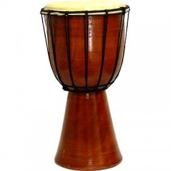Djembe Drum Plain Red Mahogany Finish Drum LABEShops Home Decor, Fashion and Jewelry