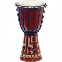 Djembe Drum Carved Red Mahogany Finish - Assorted Designs LABEShops Home Decor, Fashion and Jewelry