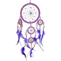 DreamCatcher with Pink Irridescent Beads