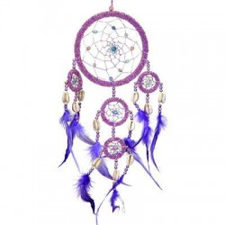 DreamCatcher with Pink Irridescent Beads LABEShops Home Decor, Fashion and Jewelry